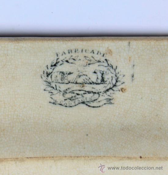 Antigüedades: FUENTE DE CARTAGENA siglo XIX, 29x38 cm. - Foto 2 - 36286091