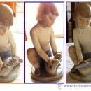 Antigüedades: FIGURA DE NIÑO CON BARCO DE LA CASA NAO SEGUNDA MARCA DE LLADRO VALENCIA. Lote 36288482
