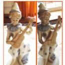 Antigüedades: PORCEVAL FIGURA DE PAYASO CON INSTRUMENTO. Lote 36288578
