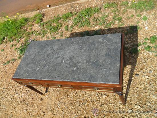 Antigüedades: mesa baja inglesa de 3 cajones - Foto 2 - 36302901