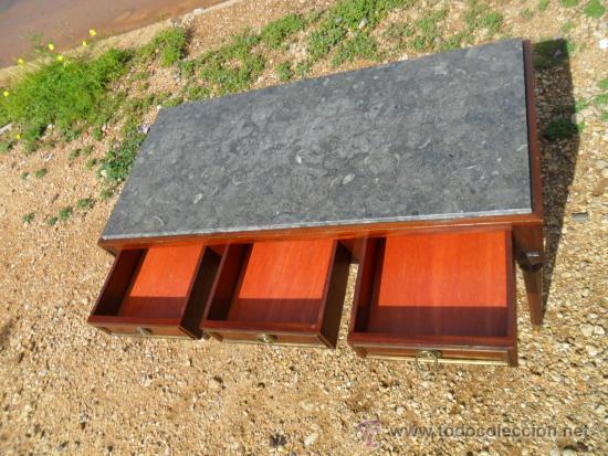 Antigüedades: mesa baja inglesa de 3 cajones - Foto 3 - 36302901