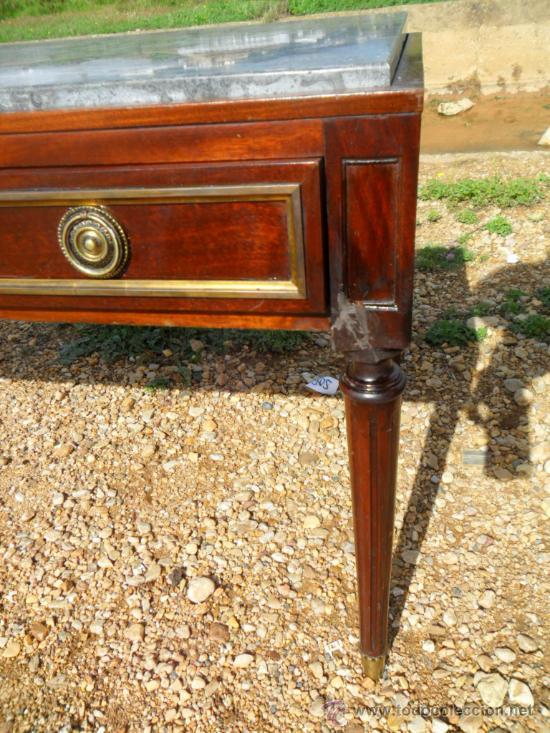 Antigüedades: mesa baja inglesa de 3 cajones - Foto 4 - 36302901