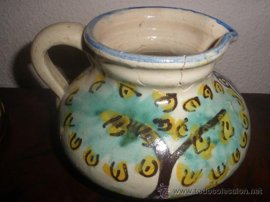 Antigüedades: ANTIGUA JARRA CERAMICA TOLEDO PUENTE DEL ARZOBISPO - SIGLO XIX - Foto 2 - 36310008
