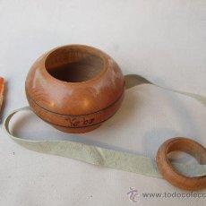 Antigüedades: CUENCO DE MADERA PARA HIERBAS. Lote 36310391