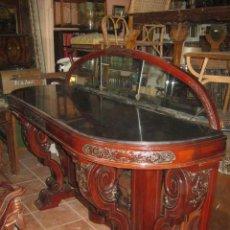 Antigüedades: MAGNÍFICA CONSOLA PROFUSAMENTE TALLADA DE GRANDES DIMENSIONES.. Lote 36407240