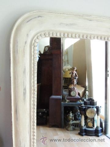 Antigüedades: ESPEJO DE MADERA CON UN CORDON ALREDEDOR EN DECAPE - Foto 5 - 39702253