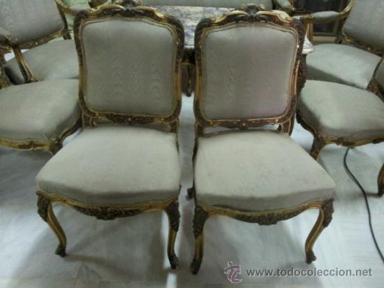 Antigüedades: Antiguo tresillo estilo Luis XV - Foto 2 - 36477540