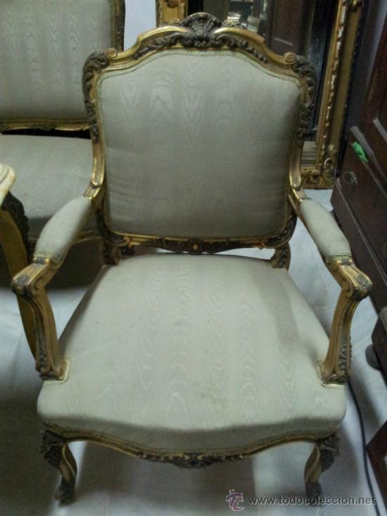 Antigüedades: Antiguo tresillo estilo Luis XV - Foto 3 - 36477540