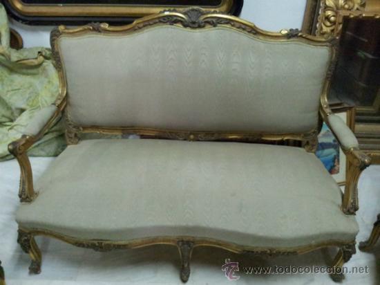 Antigüedades: Antiguo tresillo estilo Luis XV - Foto 8 - 36477540