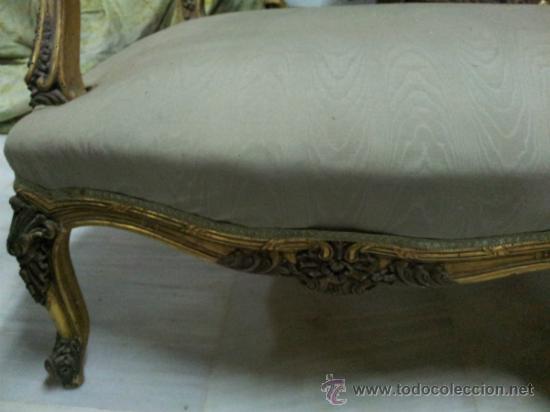 Antigüedades: Antiguo tresillo estilo Luis XV - Foto 9 - 36477540