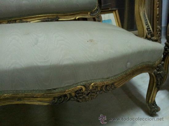 Antigüedades: Antiguo tresillo estilo Luis XV - Foto 11 - 36477540