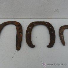 Antigüedades: 3 HERRADURAS ANTIGUAS. Lote 36312052