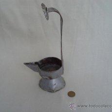 Antigüedades: CANDIL DE ACEITE, ALTO.. Lote 36314470