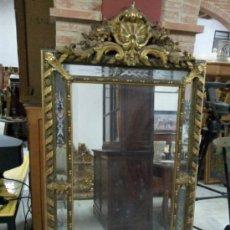 Antigüedades: ANTIGUO ESPEJO DORADO DEL SIGLO XIX. Lote 36477640