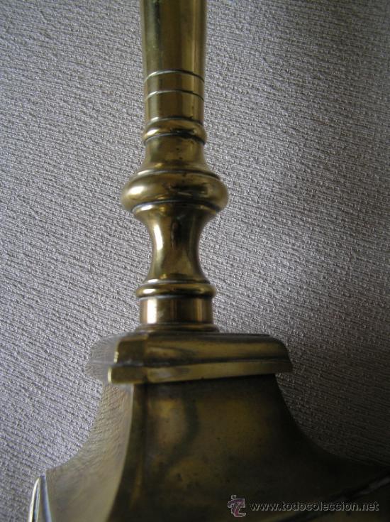 Antigüedades: ESPECTACULAR CANDELABRO ESPAÑOL S. XVIII. TRÍPODE GARRAS DE LEÓN. - Foto 5 - 36315938