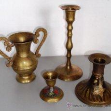 Antigüedades: BRONCE PORTAVELAS, JARRITA CON ASAS. Lote 36330366