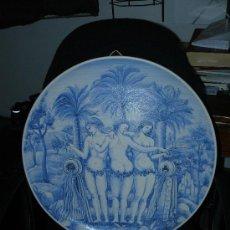 Antigüedades: PRECIOSO PLATO - CERÁMICA ITALIANA - FIRMADA PETER SCREMIN. Lote 36337268