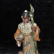 Antigüedades: FRANCESC ELIES BRACONS (SABADELL, 1892 - REUS, 1991) FIGURA D TEMATICA ORIENTAL EN CERÁMICA VIDRIADA. Lote 36357068