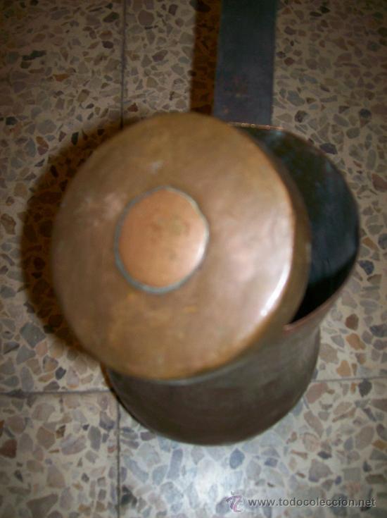 Antigüedades: Gran chocolatera de cobre antigua. - Foto 4 - 36372118