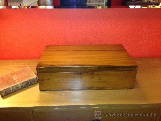 CAJA ANTIGUA ROBLE (Antigüedades - Hogar y Decoración - Cajas Antiguas)