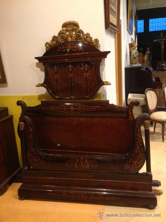 Subastas Muebles Antiguos Barcelona : Cama isabelina de matrimonio colección particu comprar