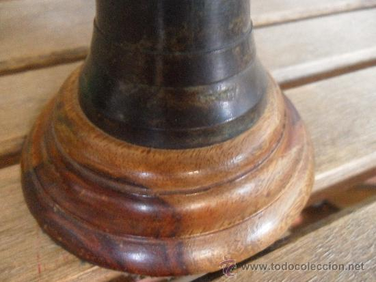 Antigüedades: ANTIGUO GLOBO TERRAQUEO EN METAL COBRE BRONCE NOMBRES TALLADOS EN INGLES Y CON PATINA BASE DE MADERA - Foto 11 - 36389481
