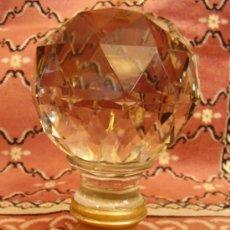 Antigüedades: BOLA DE ARRANQUE DE ESCALERA FRANCESA BACCARAT.. Lote 36414057