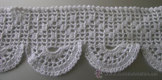 Cinta tira cenefa puntilla ganchillo croc comprar en todocoleccion 91857817 - Cenefas de crochet ...