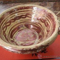 Antigüedades: ANTIGUA ESCUDILLA ORIGINAL CERÁMICA DE MANISES-CON ESMALTE DE REFLEJOS-ORIGINAL PRINCIPIOS S. XVII. Lote 36422291