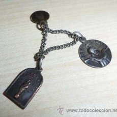 Antigüedades: MEDALLAS SANTO CRISTO DE LEZO, GUIPÚZCOA, CON DOS MEDALLAS MÁS DE LA VIRGEN. Lote 36425698