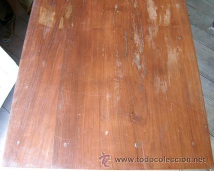Antigüedades: Escritorio madera nogal. 3 cajones - Foto 2 - 34298643