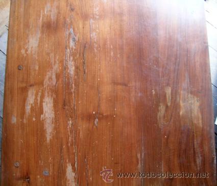 Antigüedades: Escritorio madera nogal. 3 cajones - Foto 3 - 34298643