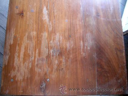 Antigüedades: Escritorio madera nogal. 3 cajones - Foto 4 - 34298643