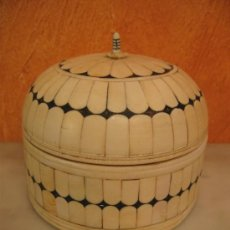Antigüedades: CAJA DE MADERA DE OLIVO FORRADA EN MARFIL.. Lote 36439550