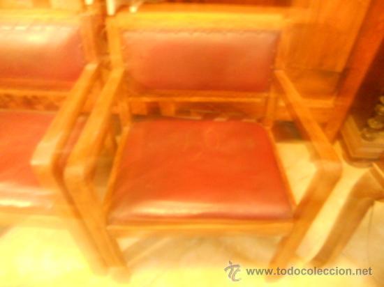 Antigüedades: SILLONES DESPACHO INDUSTRIAL - Foto 2 - 36435990