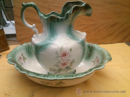 Aguamanil antigua jarra y palangana ironstone e comprar - Porcelana inglesa antigua ...