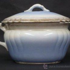 Antigüedades: ORINAL CON TAPA, ROYAL IRONSTONE CHINA, JOHNSON BROS. Lote 36460844