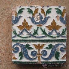 Antigüedades: AZULEJO ANTIGUO DE TOLEDO, EN TECNICA DE ARISTA O CUENCA. RENACIMIENTO SIGLO XVI. Lote 36471193