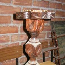 Antigüedades: CENICERO MACIZO DE MADERA ANTIGUO. Lote 36486913