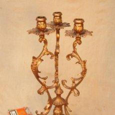 Antigüedades: CANDELABRO EN BRONCE . Lote 36492934