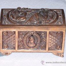 Antigüedades: COFRE DE COBRE, JOYERO.. Lote 36494723