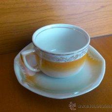 Antiquitäten - Antiguo juego de taza y plato modernista - 36495785
