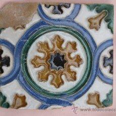 Antigüedades: AZULEJO DE TOLEDO, EN ARISTA O CUENCA- CERAMICA AGUADO.. Lote 36522883