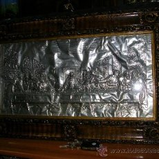 Antigüedades: MARCO MUY ANTIGUO CON LA ÚLTIMA CENA DEL SEÑOR. Lote 36512635