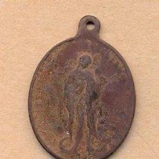 Antigüedades: MONEDA 505 MEDALLA SIGLO XVI - XVII CON MOTIVO DE VIRGEN REALIZADA EN COBRE 3.5 X 2.8 CMS 10 GR. Lote 36513848