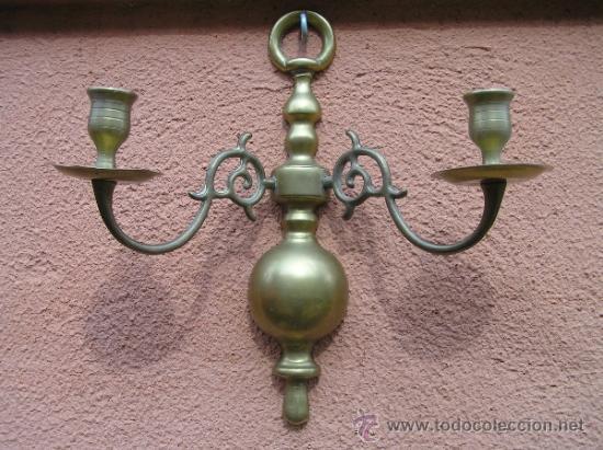Candelabro de pared isabelino bronce s xix comprar - Candelabros de pared ...