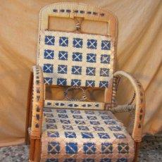 Antigüedades: SILLON EN MADERA DE BAMBU. Lote 36532215
