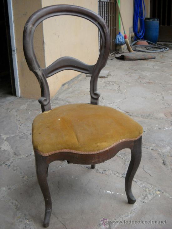 Silla isabelina de caoba comprar sillas antiguas en - Sillas antiguas de segunda mano ...