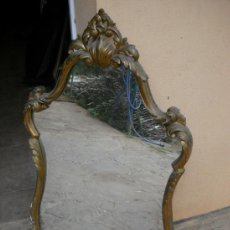 Antigüedades: ESPEJO MARCO DE MADERA E HIESO.. Lote 36534136