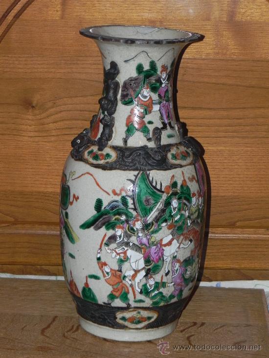 ANTIGUO JARRON SATSUMA (Antigüedades - Porcelana y Cerámica - Japón)